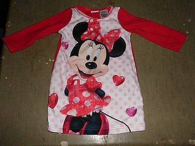 Baby Girls Minnie Mouse Pajama Top by Disney 18 Month  Red Black & Pink
