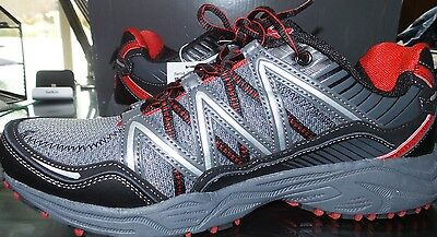 NEW FILA MEN's Trail Running Headway 6 Shoes GRAY BLACK RED SIZE 9 comfort !!!