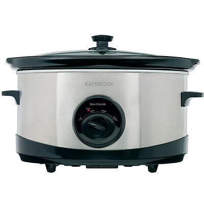 NEW Kambrook - KSC110 - Stainless 6L Slow Cooker from Bing Lee