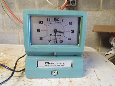 Acroprint Time Recorder Time Clock 125NR4 Used Works