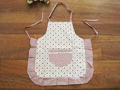 Coming Again ! Chic Rose Crochet Lace Pocket Frill Kids Cotton Apron