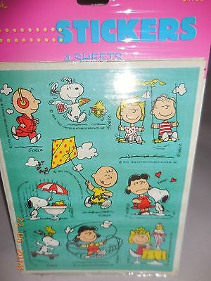 Snoopy Peanuts Vintage Hallmark Just Having Fun Stickers - 4 Sheets In Pkg