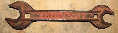 Antique Old Cast Iron Kingman Plow Co Farm Implement Wrench Tool No. 81