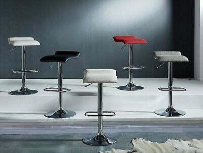 """Pack of 2 """"Fabia II"""" Collection Adjustable Bar Stool in 3 Colours Fabric"""