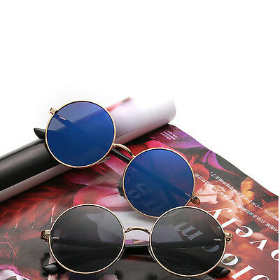 Hot Vintage Polarized John Lennon Sunglasses Hippie Retro Round Mirrored Glasses