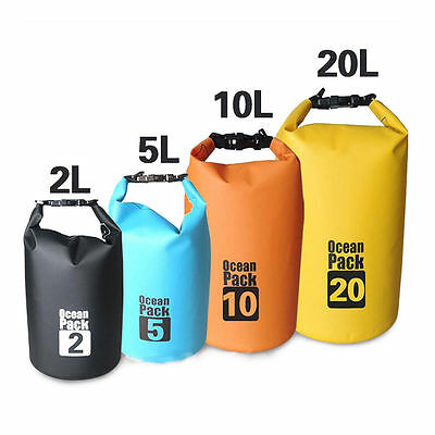 2-10L Sports Waterproof Dry Bag Backpack Pouch Floating Boating Kayaking Camping