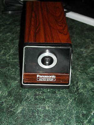 Vintage Panasonic Auto Stop Electric Pencil Sharpener Model KP-120