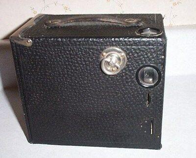Vintage Buster Brown Box Camera With Film In Camera