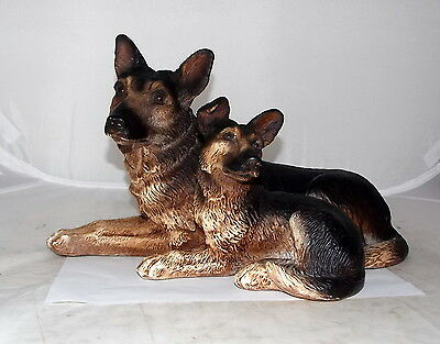 Vintage German Shepherd Dog Sculpture Figurine Collectible
