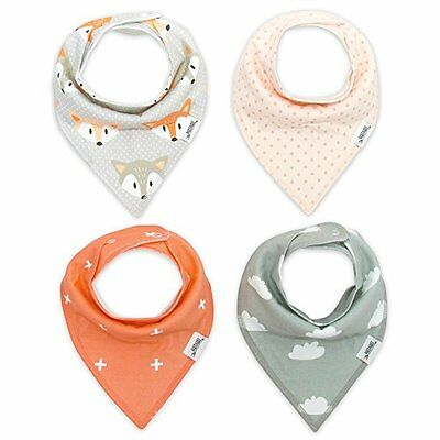 Bandana Drool Bibs with Snaps Extra Absorbent for Baby Girl Boy Drooly Teething