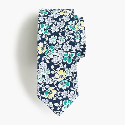 UNOPENED J.Crew Boys' Cotton Tie in Navy Floral | 52""