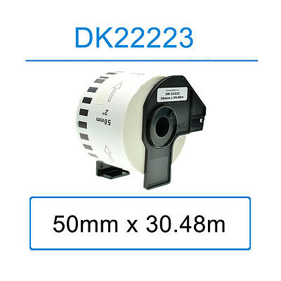 Compatible for Brother DK22223 Address Labels 50mm x 30.48m P-Touch Printer