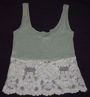 Victoria's Secret Light Green Mesh with Lace Camisole Size M