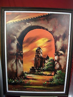 """Candace Original Large Framed Vintage Oil Painting 44"""" X 34"""" - Gorgeous!"""