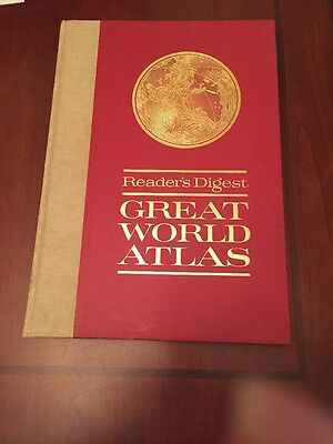 Reader's Digest Great World Atlas 1963, First Edition hardcover