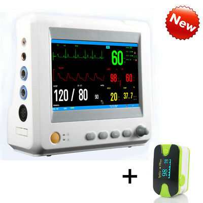 Vital Sign Patient Monitor ECG NIBP RESP TEMP SPO2 PR Optional ETCO2/Trolley AA