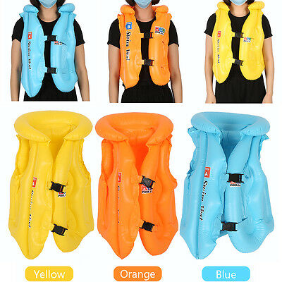 S/M/L PVC Swimming Wear Life Jacket Baby Children Swimwear Inflatable Float Vest