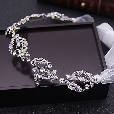 Silver Wedding Hair Vine Crystal Bridal Accessories Diamante Headpiece 1 Piece