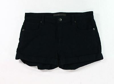 Genetic NEW Fade Black Womens Size 24 Knit Textured Cuffed Shorts $80 679
