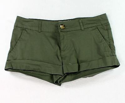 Cotton On NEW Solid Dark Green Womens Size 4 Flat Front Cuffed Shorts- 690