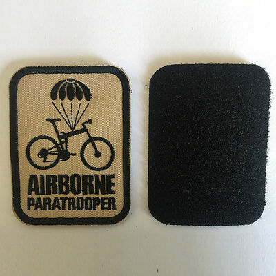 3D Airborne Paratrooper USA Military Tactical Morale Badge Subuded Emblem Patch