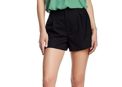 Harlow & Graham NEW Black Womens Size Small S Pleated Dress Shorts $58- 946