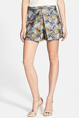 Sam Edelman NEW Blue Womens Size 0 Embroidered Pleated Dress Shorts $129- 694