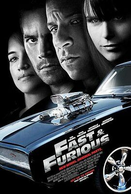 FAST AND FURIOUS 4 MOVIE POSTER 2 Sided ORIGINAL 27x40 VIN DIESEL