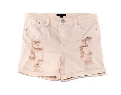 Fire Los Angeles NEW Pink Size 3 Junior Stretch Distressed Denim Shorts 480