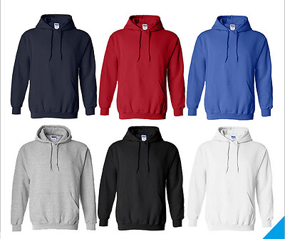 Hot Adult Unisex Hoodie Jumper Pullover Loose Basic Blank Plain Casual Sports
