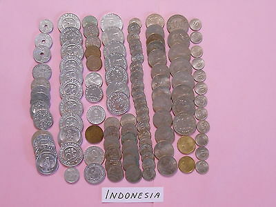 World Coin Lot:  201 Foreign Coins from Indonesia