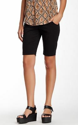 Christopher Blue NEW Black Women Size 10 Taylor Bermuda Mid-Rise Shorts $125 629