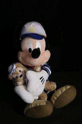 "Disney 18"" Sailor Mickey Mouse holding Duffy Teddy Bear Plush Toy Doll"