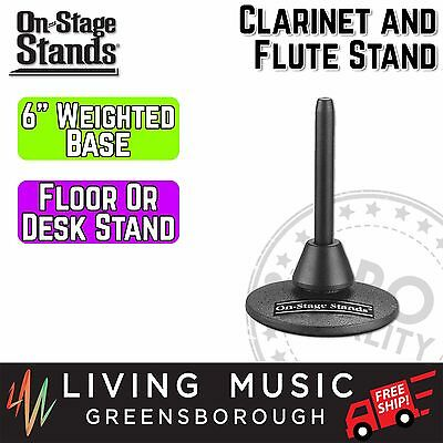 NEW On Stage Stands Clarinet and Flute Compact Stand Desktop Floor Black