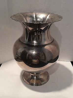 Vintage Cartier Sterling Silver Large Vase In Excellent Condition