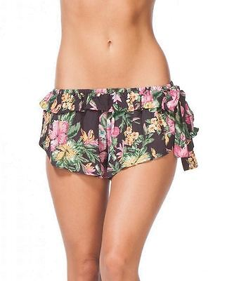 Ripcurl NEW Black Womens Size Small S Pink Floral Print Casual Shorts $39 540