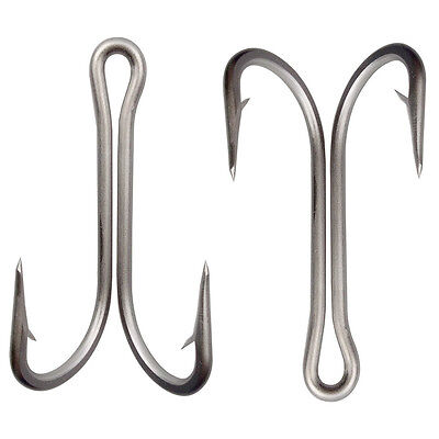 8/18 Stainless Steel Double Fishing Hook Saltwater Big Strong Frog Toad FishHook
