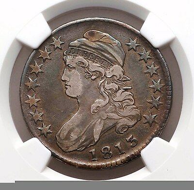 1813 Capped Bust Silver Half Dollar NGC VF25 Type Coin Overton