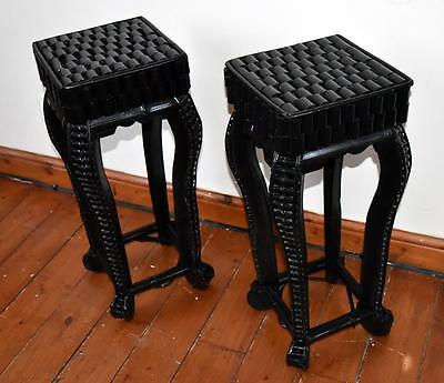 Attractive Pair (2) Chinese  Vase Stands Table Stands