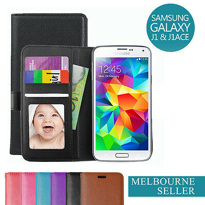 Galaxy J1 / J1 Ace / 2016 / J3 J2 Case, Slim Wallet Leather Cover For Samsung