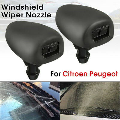 Front Windscreen Water Nozzles Mist Washer Jets Spray For Peugeot 207 306 307
