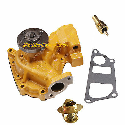 6204-61-1302 Water Pump with Thermostat &Sensor for KOMATSU D20A-6 D20P-6 D21A-6
