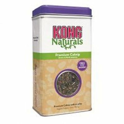 Kong Premium American Dried Catnip 2 Oz Tin With Foil Rustling Crinkle Toy