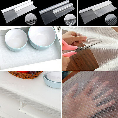 Non-Adhesive Clear Self Drawer Cabinet Table Mat Liner Non Slip Moisture-proof