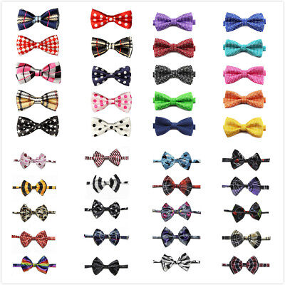 10PCS Dog Bow Tie LOT Cat Pet Cute Necktie Collar Assorted Pattern Adjustable