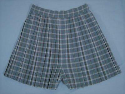 VINTAGE 1940s WWII PLAID COTTON HIGH WAISTED PLEATED WIDE LEG PINUP SHORTS VLV
