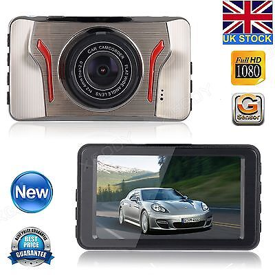 "3"" LCD Full HD 1080P In Car DVR Dash Cam Vehicle Camera Video Recorder G-sensor"