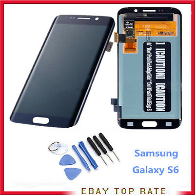 Display Lcd + Touch Schermo Digitizer Per Samsung Galaxy S6 Edge Sm-G925F Blu
