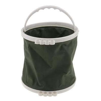 Portable Durable Canvas Wash Pen Bucket Painting Brush Holder Fishing Bucket