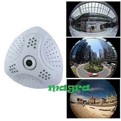 Ts Telecamera Panoramica Fish Eye 360° Gradi Digitale Ahd Led Grandangolo Soffit